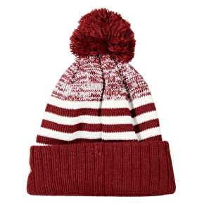 New Era MLB Stripe Beanie - Yankees - Maroon