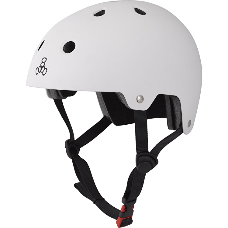 Triple 8 Brainsaver Dual Certified Helmet - White Rubber