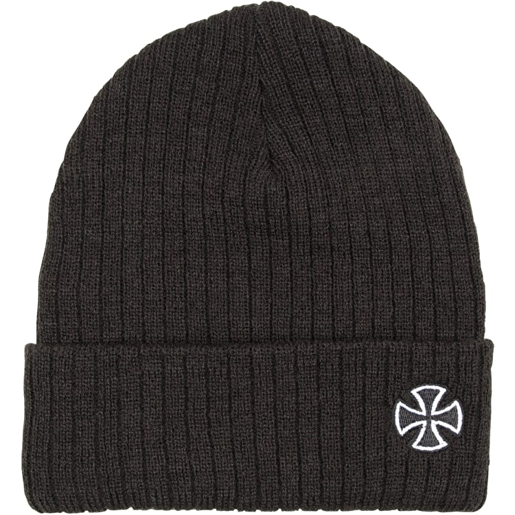 Independent Cross Ribbed Beanie - Black