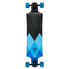 D-Street Geo Drop Down Longboard - Blue 40