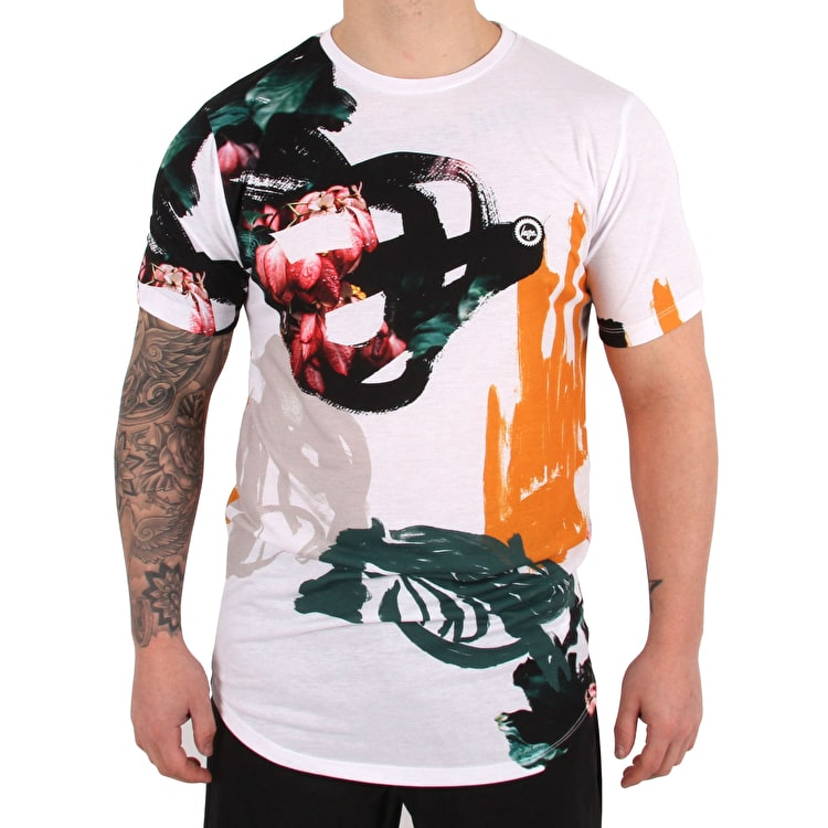 Hype Abstract T-Shirt - White/Multi
