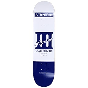 A Third Foot Playing Card Skateboard Deck - Blue - 8.0