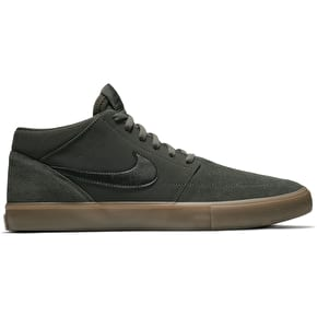 Nike SB Portmore II Solar Mid Skate Shoes - Sequoia/Black