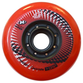 Hyper Inline Skate Wheels - Concrete Red 4pk