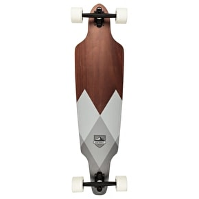 D-Street Geo Drop Through Longboard - Grey 38''