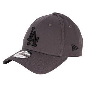 New Era MLB League Essentials Cap - LA Dodgers - Graphite/Black