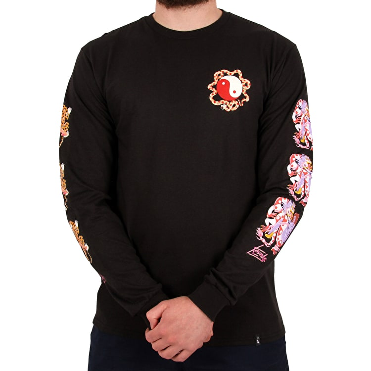 Huf Chloe K Yin-Yang Long Sleeve T Shirt - Black