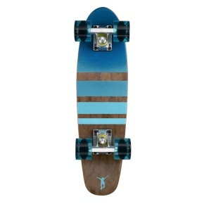Ridge Mini Cruiser Skateboard - Number Three Dark Dye/Clear Blue 22
