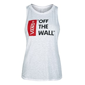 Vans Anthem Womens Muscle Tank Top - White