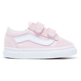 Vans Old Skool V Toddler Shoes - (Suede/Canvas) Chalk Pink/True White