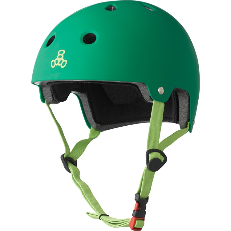 Triple 8 Brainsaver Dual Certified Helmet - Kelly Green