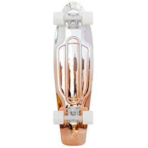 Penny Nickel Metallic Fade Complete Skateboard - White/Copper - 27