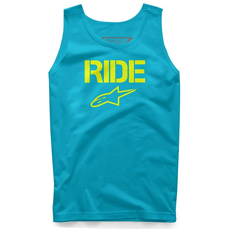 Alpinestars Ride Solid Tank Top - Carolina Blue/Yellow