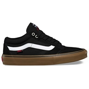 Vans TNT SG Skate Shoes - Black/White/Gum