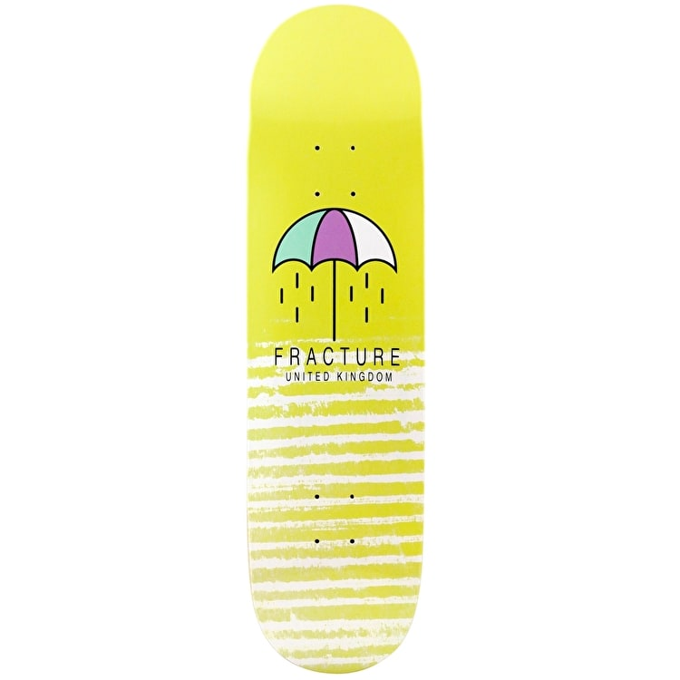 Fracture Brolly Skateboard Deck - Yellow 8.25""