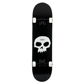 Zero Single Skull Complete Skateboard - Black/White 8.0