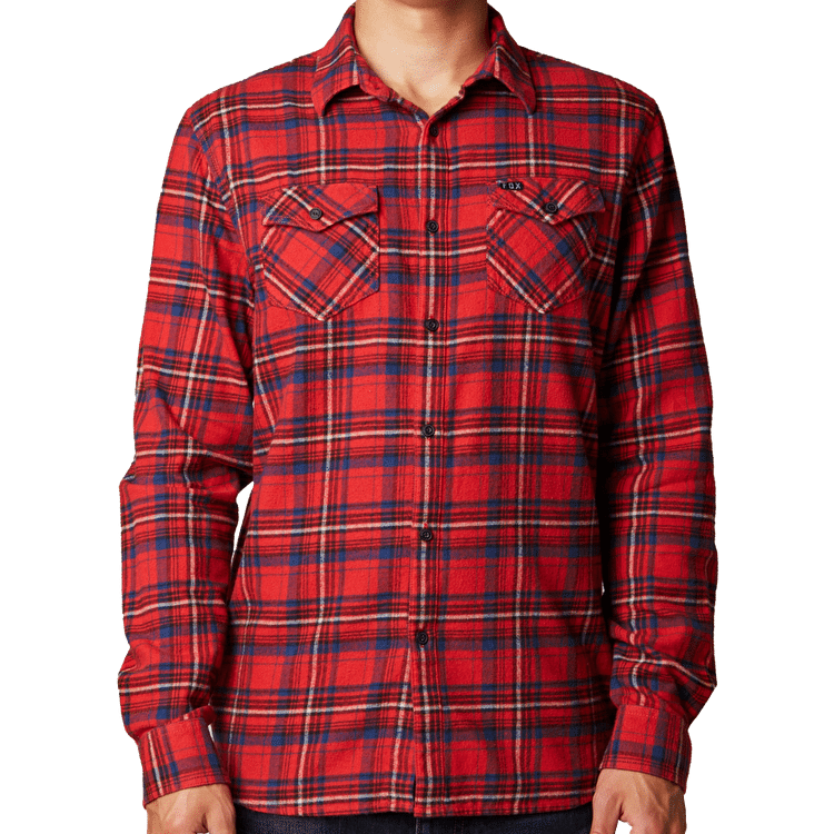 Fox Nico Longsleeve Flannel Shirt - Red