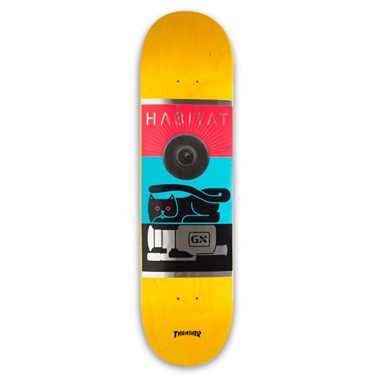 Habitat GX1000 Skateboard Deck - Yellow - 8.0""