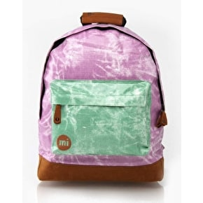 Mi-Pac Tie Dye Contrast Backpack - Purple / Green