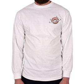 Skateboard Cafe Planet Donut Long Sleeve T shirt - White