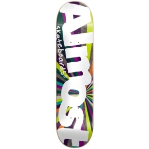Almost Skateboard Deck - Off Centre Colour Wheel R7 Purple/Lime 8.125