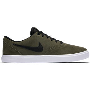 Nike SB Check Solar Skate Shoes - Cargo Khaki/Black