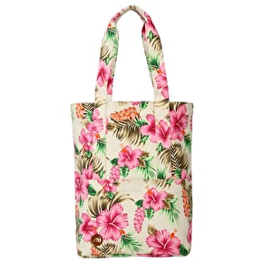 Mi-Pac Tote Bag - Tropical Hibiscus Natural