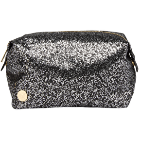 Mi-Pac Wash Bag - Glitter Silver/Black