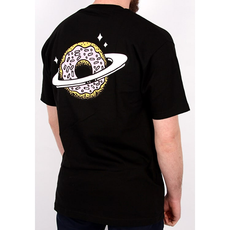 Skateboard Cafe Planet Donut T shirt - Black