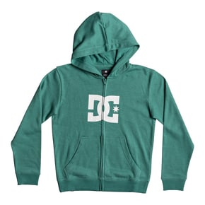 DC Star Kids Zip Hoodie - Deep Sea/Snow White