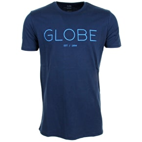 Globe Phase T-Shirt - Indigo Blue