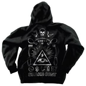 Shake Junt All Eyes Zip Hoodie - Black