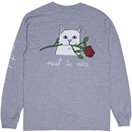 RIPNDIP Romantic Nerm Long Sleeve T Shirt - Grey