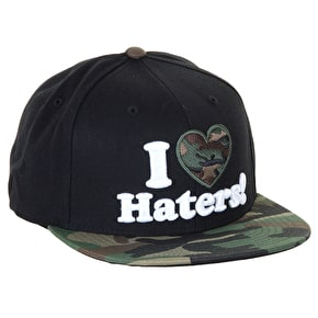 DGK Haters Snapback Cap - Black/Woodlands