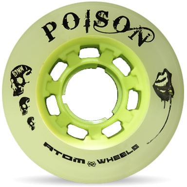 Image of Atom Quad Derby Poison Slim 62mm Wheels 84A (4pk)- Natural Green
