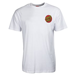 Santa Cruz Small Dot T-Shirt - White