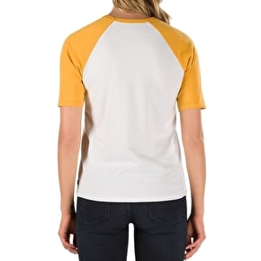 Vans Timeless Half Womens T-Shirt - White Sand/Golden Glow