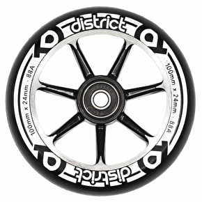 District 100mm Alloy Core Scooter Wheel - Black/Black