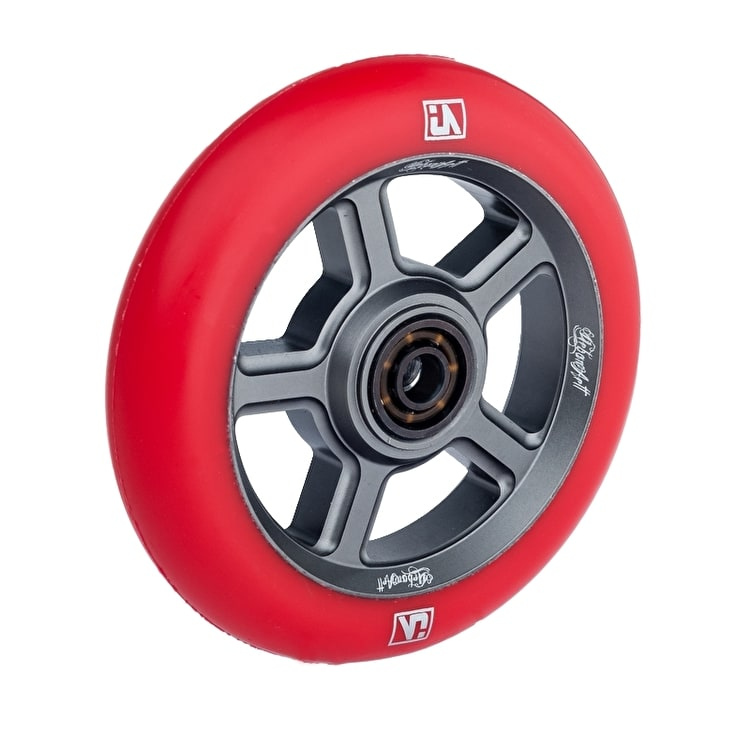 UrbanArtt S5 110mm Wheel - Titanium/Red