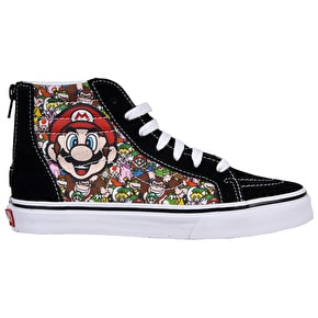 Vans Sk8-Hi Zip Toddler Shoes - (Nintendo) Mario & Luigi
