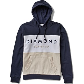 Diamond Yacht Hoodie - Colorblock Navy/White
