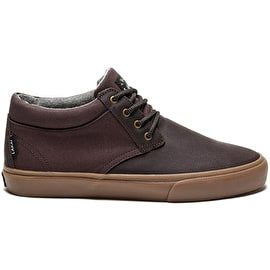 Lakai MJ Mid WT Skate Shoes - Espresso Oiled Suede