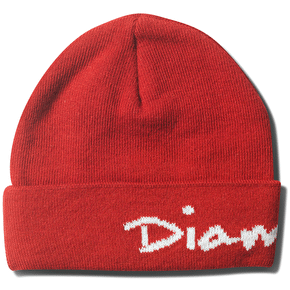 Diamond OG Script Beanie - Red