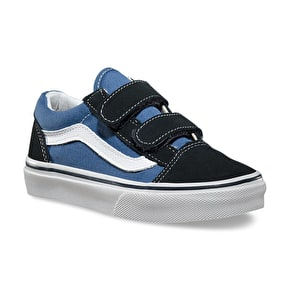 Vans Old Skool V Kids Shoes - Navy/White