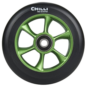 Chilli Pro Turbo 110mm Scooter Wheel w/Bearings - Black/Green