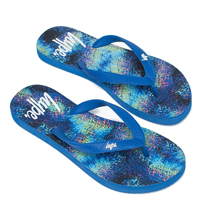 Hype Speckle Gradient Flip-Flops - Black/White
