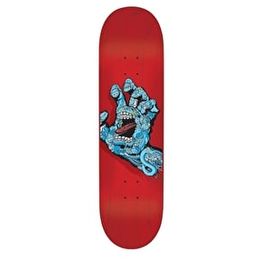 Santa Cruz Walker Hand Skateboard Deck - Black/Blue/Red 8.2