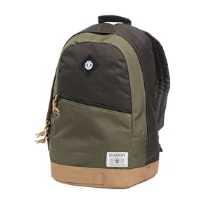 Element Camden Backpack - Flint Black/Green Moss