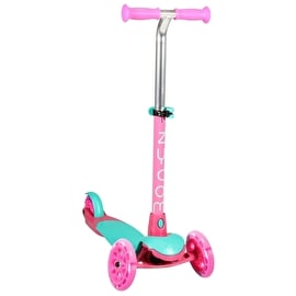 Zycom Zing Complete Scooter w/Light Up Wheels - Teal/Pink