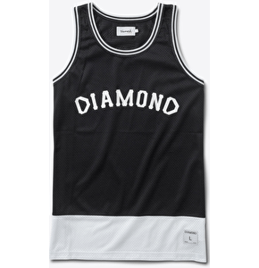 Diamond Arch Basketball Jersey - Black